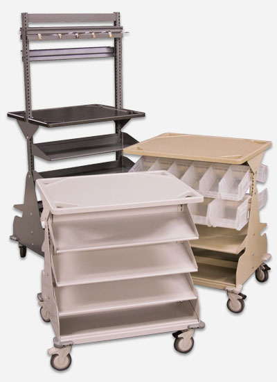Modular Bin Storage on WRXWheels Hospital Carts