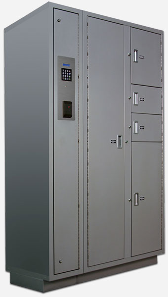 Secure Evidence Locker with Electric Locking System
