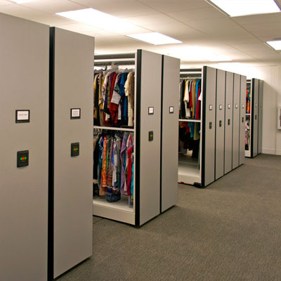 Compact Shelving on High-Density Mobile Storage System