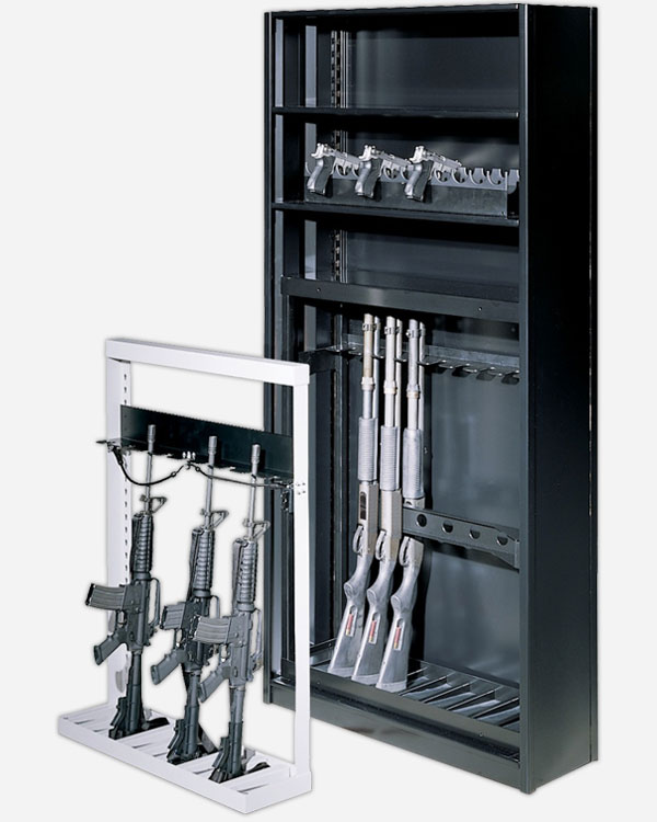 Firearms Storage on Weapons Rack Systems