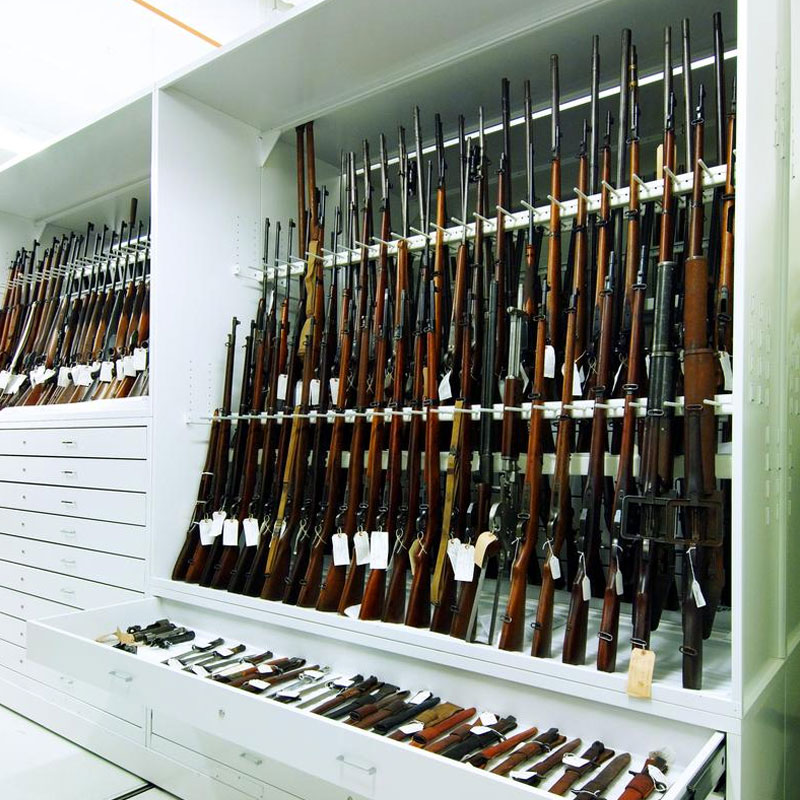 Firearms Storage Shelving for Evidence Storage