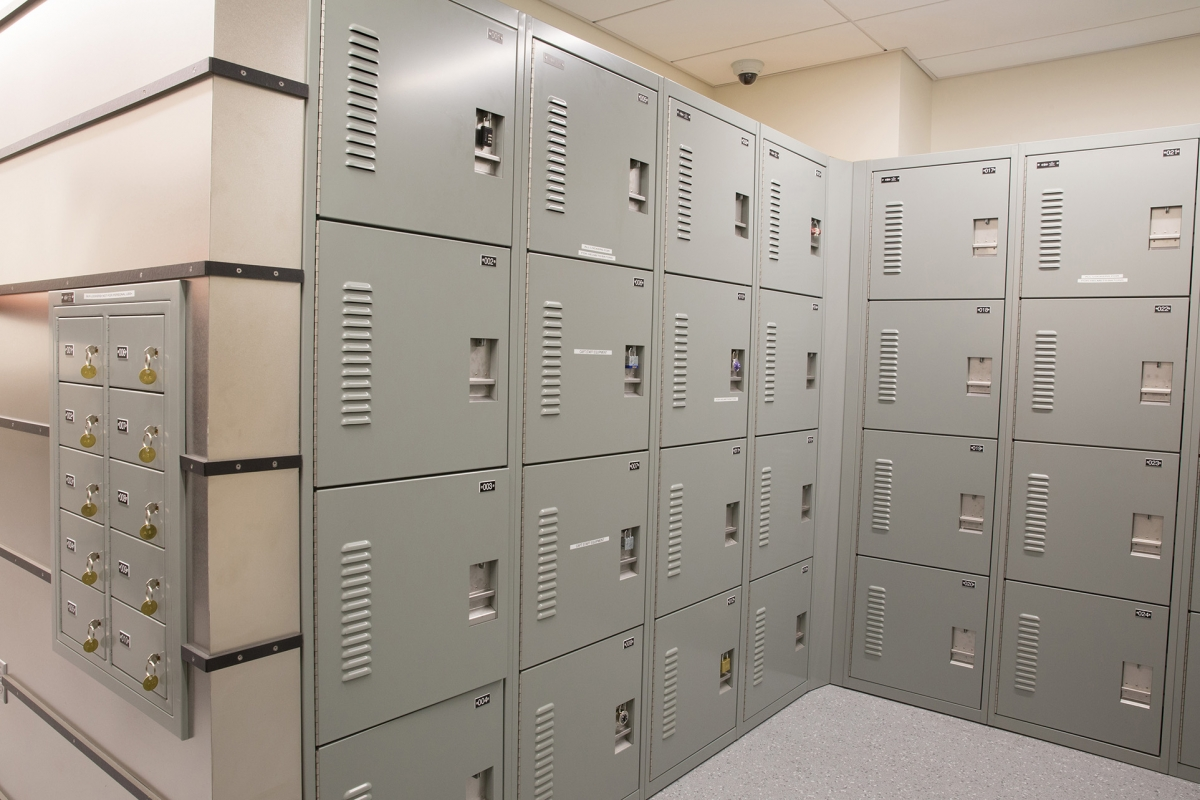 Gear bag locker storage at San Francisco Police Department