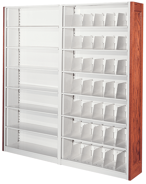 4-post case-type shelving