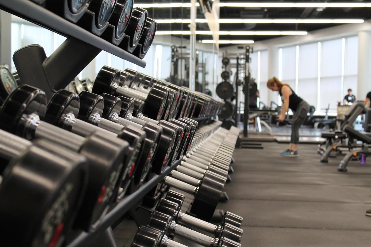 gym with keyless locker